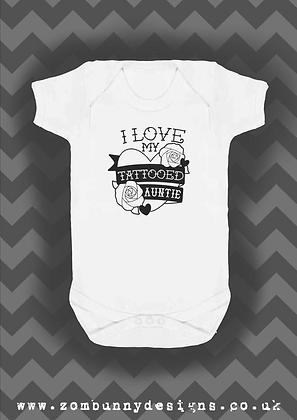 I love my Tattooed Auntie Baby Vest