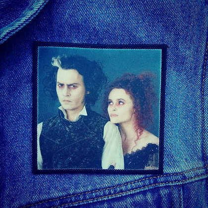 Sweeny Todd and Mrs Lovett Printed Patch