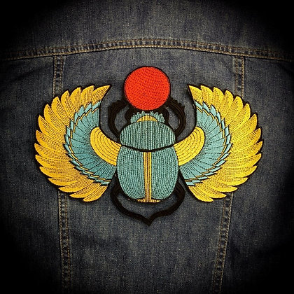 Winged Scarab Beetle Back Patch
