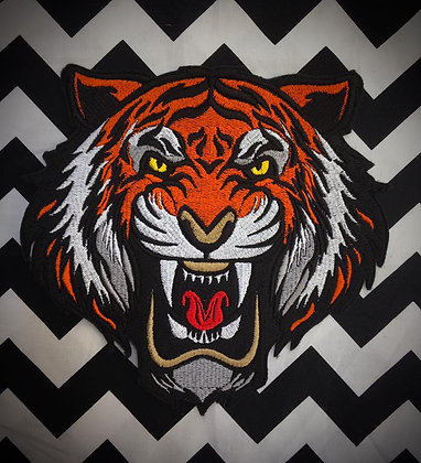 Tiger Head Back Patch