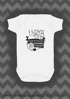 I love my daddy tattoo baby vest
