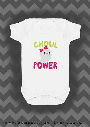 Ghoul Power Halloween baby vest