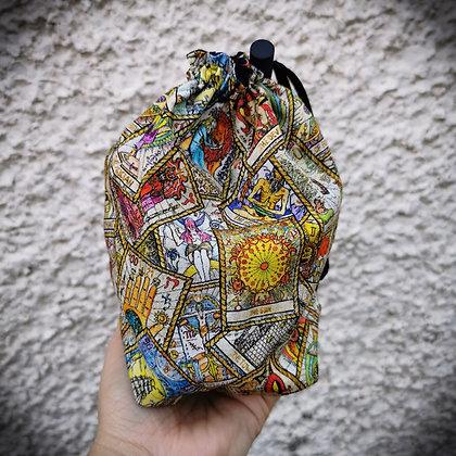 Tarot Card Print Drawstring Bag