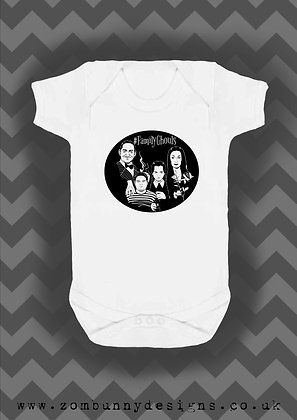 Addams Family Halloween baby vest