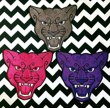 Panther Head Back Patch