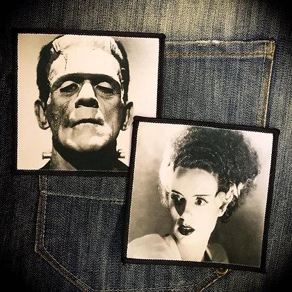 Frankenstein's Monster or Bride of Frankenstein Printed Patch (one supplied)