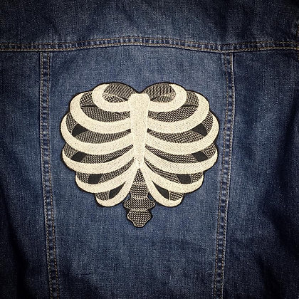 Rib cage Heart Back Patch