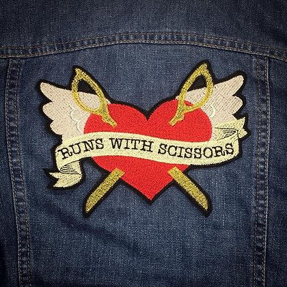 Runs with Scissors Back Patch
