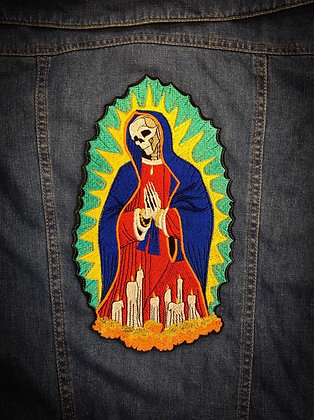 Skeleton Our Lady Back Patch