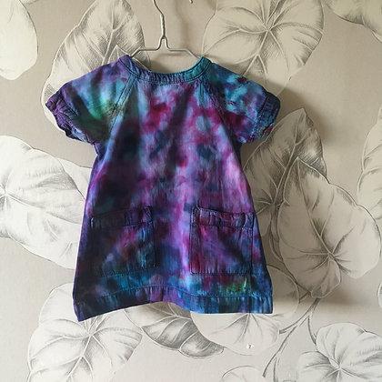 Galaxy dye A line dress