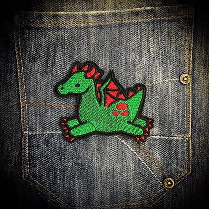 Too Cute Green Dragon Patch
