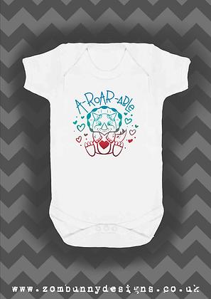 A- ROAR-ABLE Dinosaur Baby Vest