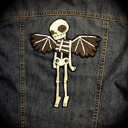Winged Skeleton Back Patch