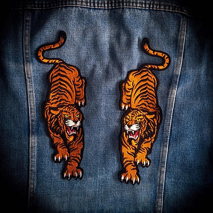 Badass Tiger Back Patch (one supplied)