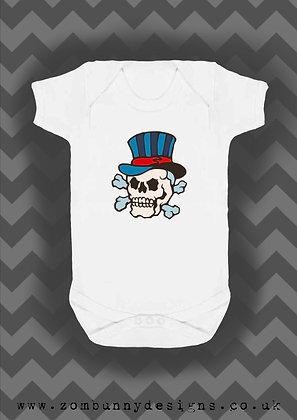 Dapper Skull tattoo baby vest