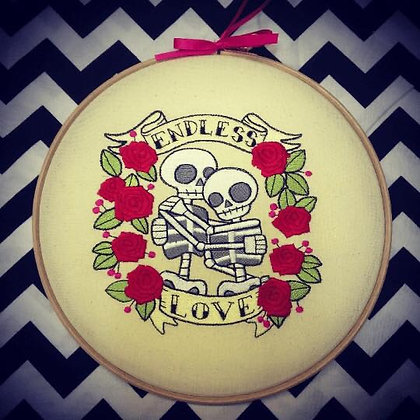 "Endless Love 10""  embroidery hoop art"