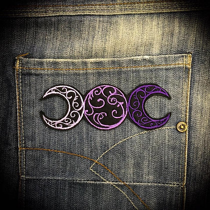 Purple Moon Phase Patch