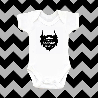 Bearded Daddy Baby Vest