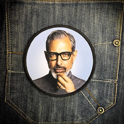 Jeff the silver fox Printed Patch
