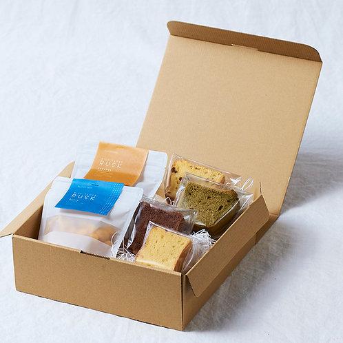 シフォンケーキ4個×ラスク2種類