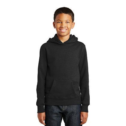PC Youth Fan Favorite™ Fleece Pullover Hooded Sweatshirt-Jet Black