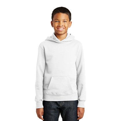 PC Youth Fan Favorite™ Fleece Pullover Hooded Sweatshirt - White