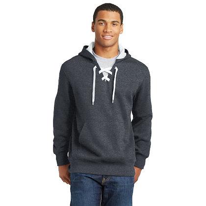 Sport-Tek® Lace Up Pullover Hooded Sweatshirt-Graphite Heather
