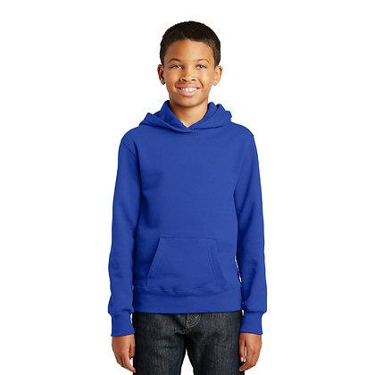 PC Youth Fan Favorite™ Fleece Pullover Hooded Sweatshirt True Royal