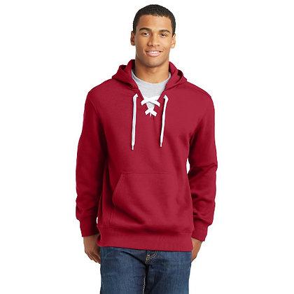 Sport-Tek® Lace Up Pullover Hooded Sweatshirt-Deep Red