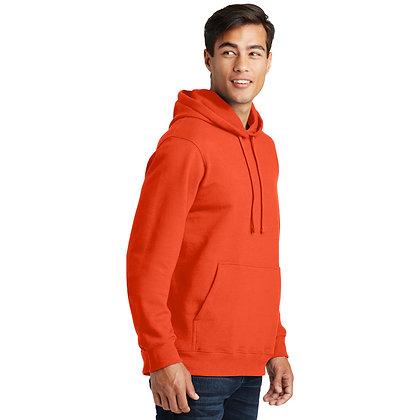PC Fan Favorite™ Fleece Pullover Hooded Sweatshirt-Orange