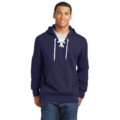 Sport-Tek® Lace Up Pullover Hooded Sweatshirt-TrueNavy