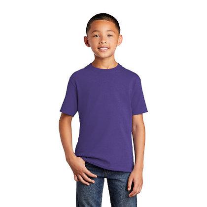 PC -Youth Core Cotton Tee - Purple