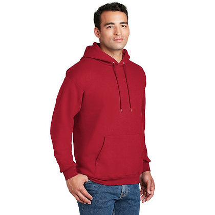 Hanes® Ultimate Cotton® - Pullover Hooded Sweatshirt-Deep Red