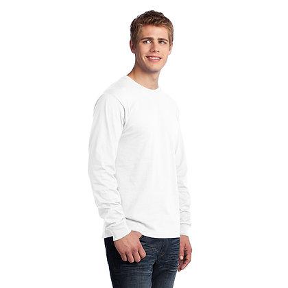 PC - Long Sleeve Core Cotton Tee - White