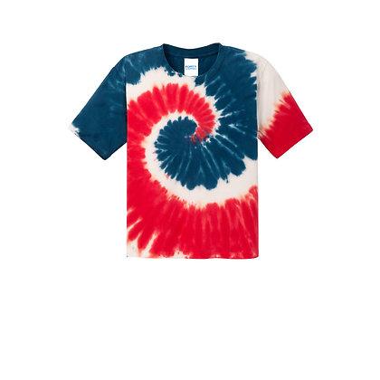 PC - Youth Tie-Dye Tee - USA Rainbow