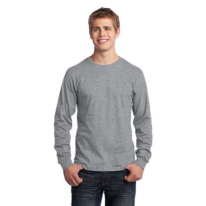 PC - Long Sleeve Core Cotton Tee - Athletic Heather