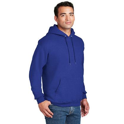 Hanes® Ultimate Cotton® - Pullover Hooded Sweatshirt-Deep Royal