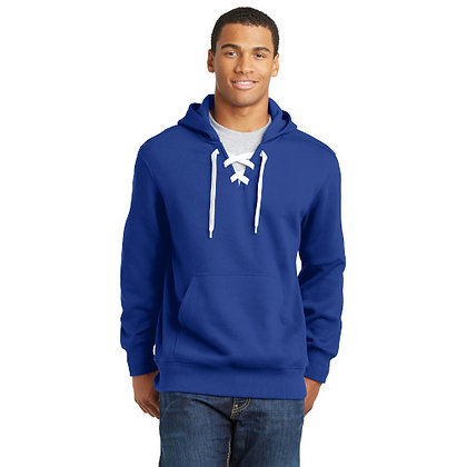 Sport-Tek® Lace Up Pullover Hooded Sweatshirt-TrueRoyal