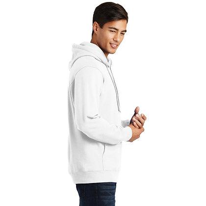 PC Fan Favorite™ Fleece Pullover Hooded Sweatshirt-White