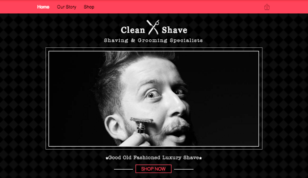 Beauty & Wellness website templates –  Shave Shop