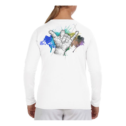 Shaka Watercolor Performance Shirt