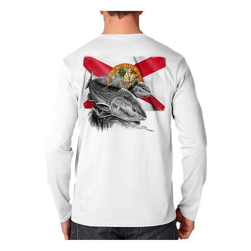 Florida Flag Redfish Performance Shirt