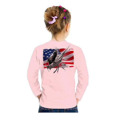 USA Flag Sailfish Performance Shirt