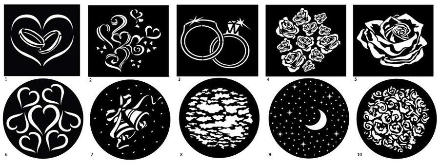 DJ wdding monogram projection example images