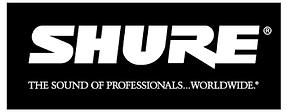 DJ brand Shure pro microphone logo