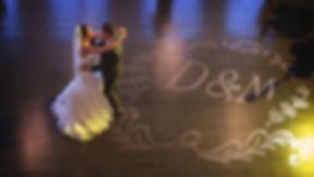 Bride Groom dancing monogram image