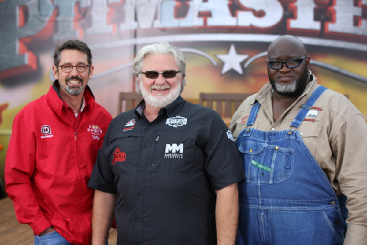 Tuffy, Myron, Big Moe at Pitmasters