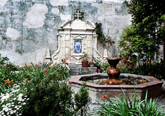 Carmel Mission Fountain And Garden