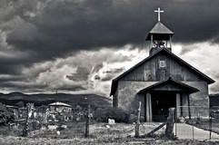 Rural Church/ BW
