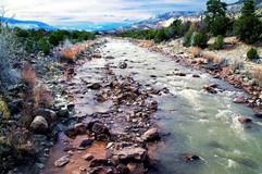 Scenic River Purple Mountains